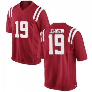 Brice Johnson Nike Ole Miss Rebels Youth Game Football College Jersey - Red