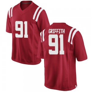 Casey Griffith Nike Ole Miss Rebels Youth Game Football College Jersey - Red