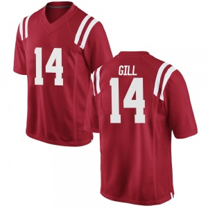 Daylen Gill Nike Ole Miss Rebels Youth Replica Football College Jersey - Red