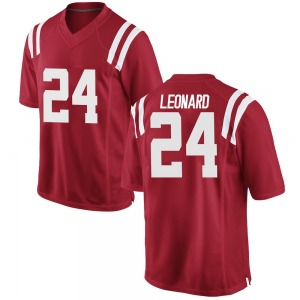 Deane Leonard Nike Ole Miss Rebels Youth Game Football College Jersey - Red