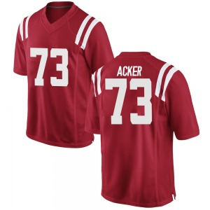 Eli Acker Nike Ole Miss Rebels Men's Replica Football College Jersey - Red