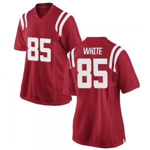 Jack White Nike Ole Miss Rebels Women's Replica Red Football College Jersey - White