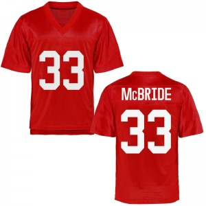 Men's John McBride Ole Miss Rebels Men's Game Cardinal Football College Jersey