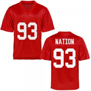 Youth Cale Nation Ole Miss Rebels Youth Game Cardinal Football College Jersey