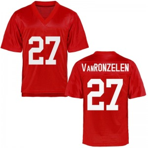 Youth Jake VanRonzelen Ole Miss Rebels Youth Game Cardinal Football College Jersey