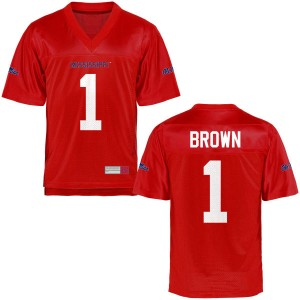 A.J. Brown Ole Miss Rebels Men's Game Football Jersey - Cardinal - Brown