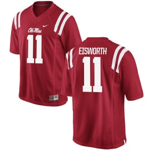 Greg Eisworth Nike Ole Miss Rebels Youth Limited Football Jersey  -  Red